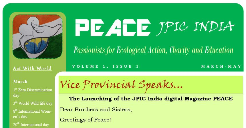 Passionists JPIC India<br>Mar – May 2018