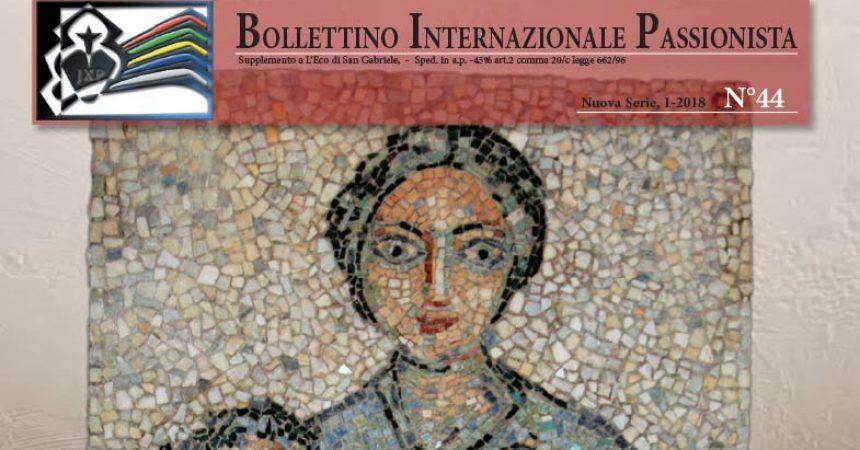 Bollettino Internazionale Passionista<br>N° 44 (1-2017)
