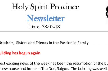 Holy Spirit Province Newsletter<br>Date 28-02-18