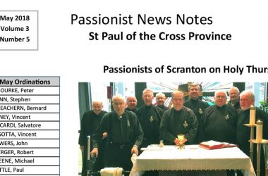 PASSIONIST NEWS NOTES<br>May 2018
