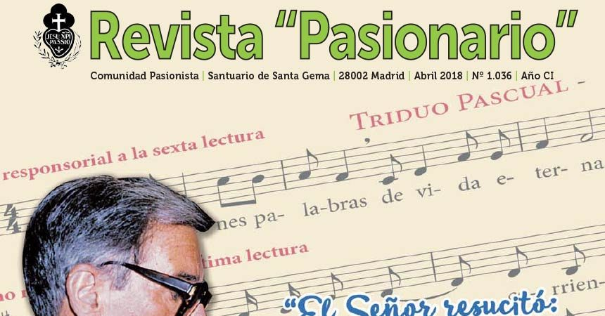 "Revista ""PASIONARIO""<br>Abril 2018"