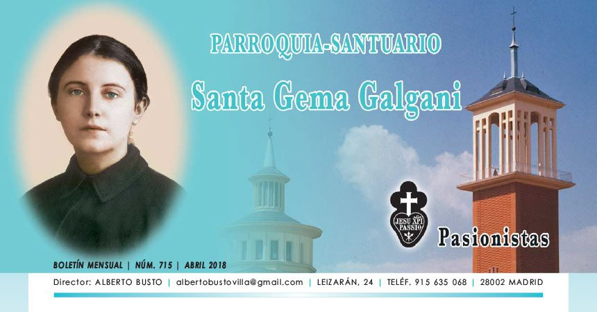 "Revista ""SANTA GEMA""<br>Abril 2018"