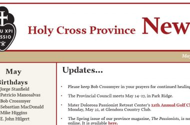 HOLY CROSS PROVINCE NEWSLETTER (CRUC-CJC)<br>May 2018