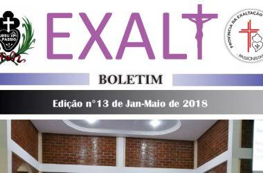 """Boletim de la Provincia """"EXALT""""<br>de Janeiro – Maio de 2018"""