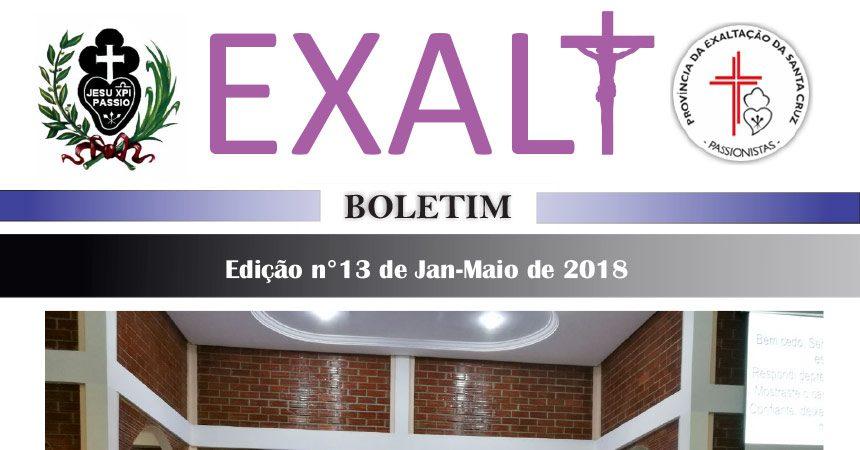 "Boletín de la Provincia ""EXALT""<br>de Janeiro – Maio de 2018"