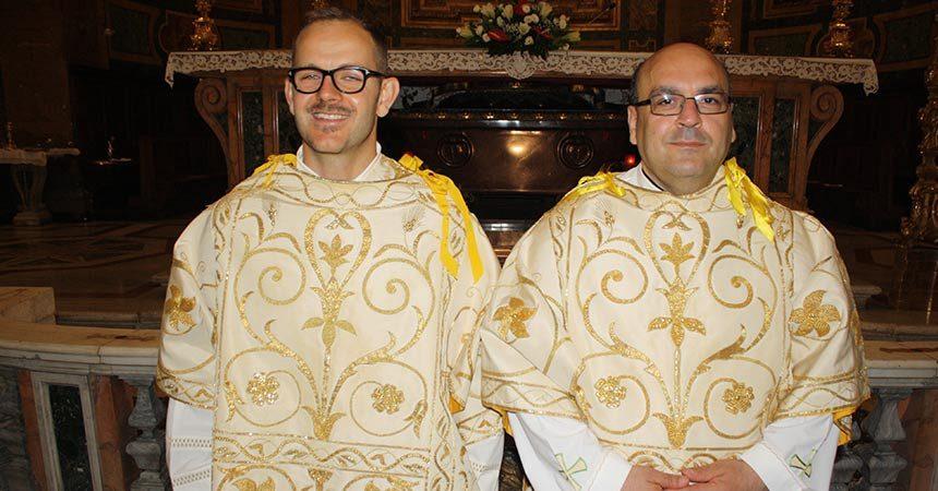 DIACONATE ORDINATION <br>Deacons Giovanni Benenati and Ippolito Di Maggio (MAPRAES)