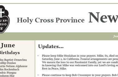 HOLY CROSS PROVINCE<br>NEWSLETTER (CRUC-CJC)<br>June 2018