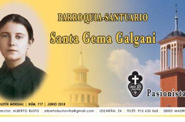 """Revista """"SANTA GEMA""""<br>Junio – Julio 2018"""