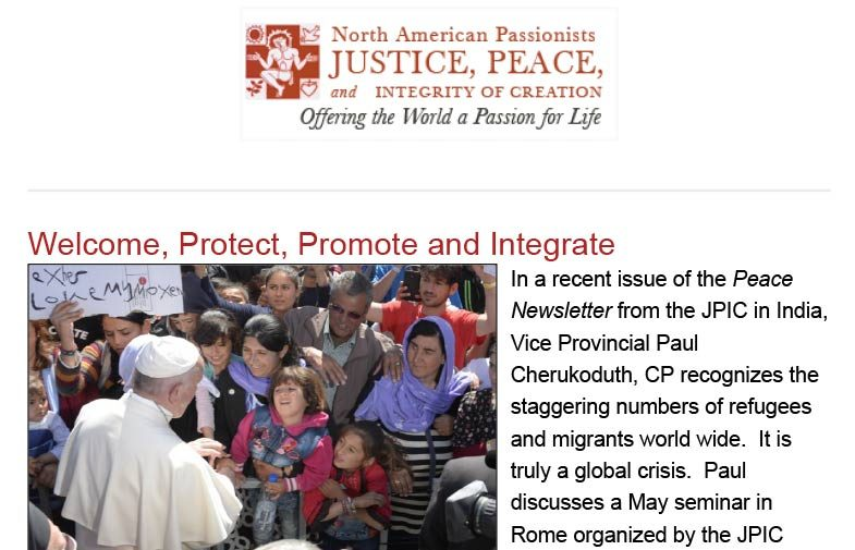 North American Passionists JPIC<br>May 2018