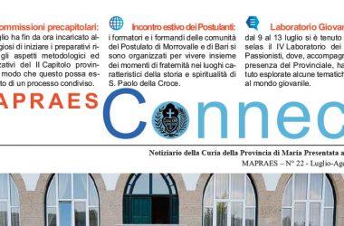 """Bollettino """"MAPRAES Connect""""<br>Luglio – Agosto 2018"""