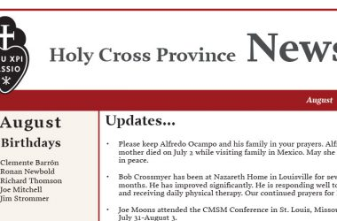 HOLY CROSS PROVINCE NEWSLETTER (CRUC-CJC)<br>August 2018