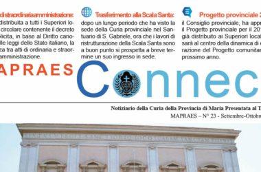 """Bollettino """"MAPRAES Connect""""<br>Settembre – Ottobre 2018"""
