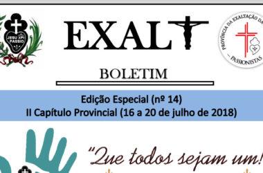 """Boletim de la Provincia """"EXALT""""<br>Edição ESPECIAL (n° 14)"""