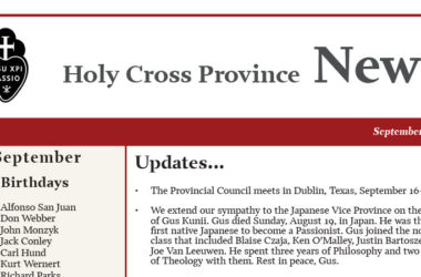 HOLY CROSS PROVINCE NEWSLETTER (CRUC-CJC)<br>September 2018