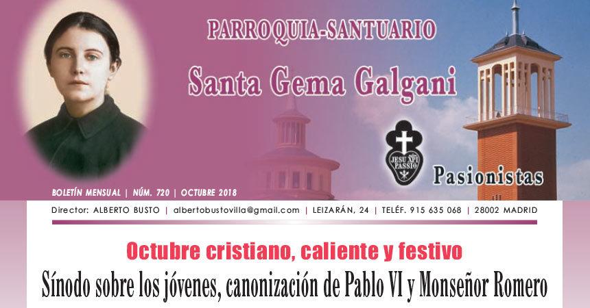 """Revista """"SANTA GEMA""""<br>octubre 2018"""