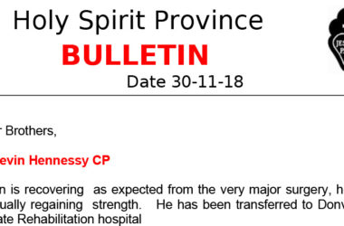 Holy Spirit Province NEWSLETTER<br>November 2018