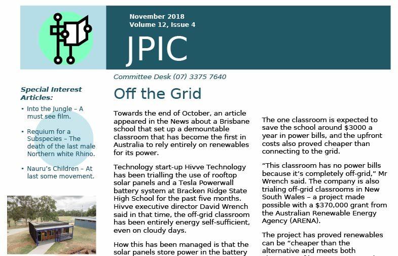 Passionist JPIC Australia<br>November 2018