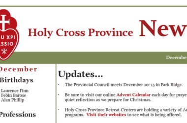 HOLY CROSS PROVINCE NEWSLETTER (CRUC-CJC) December 2018
