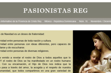 """Boletín """"PASIONISTAS REG""""<br>N° 16 Noviembre-Diciembre 2018"""