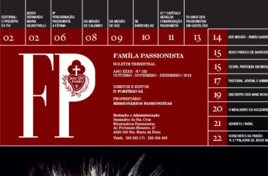 """Boletín """"FAMÍLA PASSIONISTA"""" de los Passionistas en Portugal<br>OUTUBRO – NOVEMBRO – DEZEMBRO / 2018"""