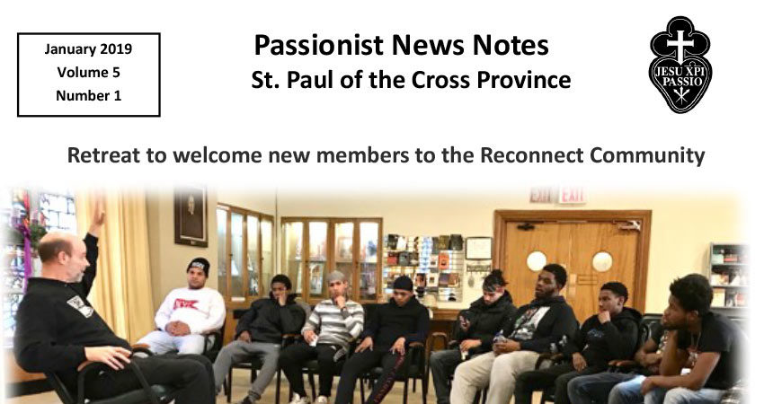 PASSIONIST NEWS NOTES January 2019