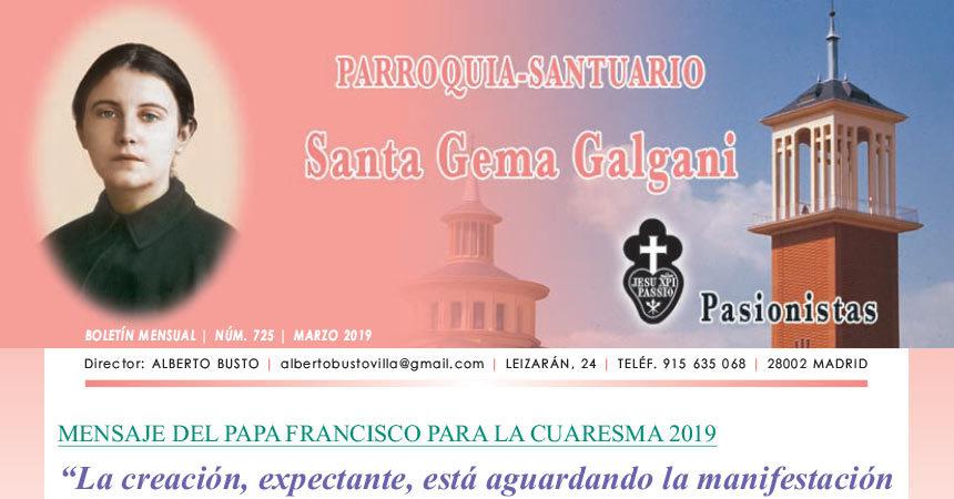 """Revista """"SANTA GEMA"""" Marzo 2019"""