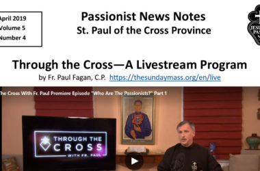 PASSIONIST NEWS NOTES – April 2019