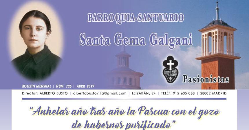 "Revista ""SANTA GEMA"" Abril 2019"