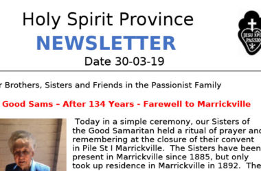 Holy Spirit Province NEWSLETTER<br>March 2019