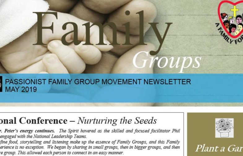 PASSIONIST FAMILY GROUP MOVEMENT (Australia) – May 2019