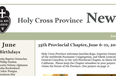 HOLY CROSS PROVINCE NEWS<br>June 2019