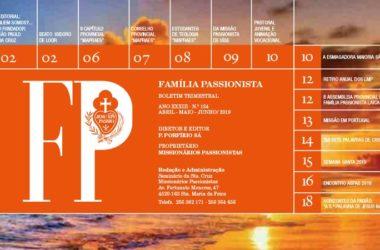 """Boletín """"FAMÍLA PASSIONISTA"""" de los Passionistas en Portugal<br>ABRIL / MAIO / JUNHO – 2019"""