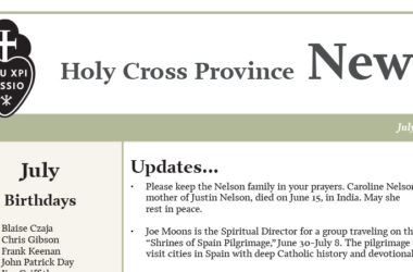 HOLY CROSS PROVINCE NEWS<br>July 2019