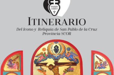Itinerario del Icono y Reliquia de San Pablo de la Cruz Provincia SCOR