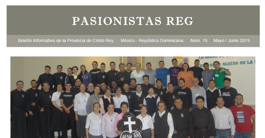 "Boletín ""PASIONISTAS REG""<br>N° 19 Mayo-Junio 2019"