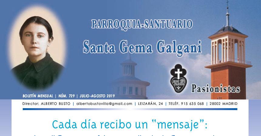 "Revista ""SANTA GEMA"" – Julio/Agosto 2019"