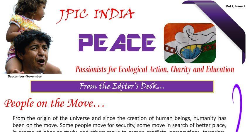 """PEACE"" JPIC INDIA<br>September-November 2019"