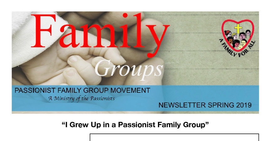 PASSIONIST FAMILY GROUP MOVEMENT (Australia) – Spring 2019