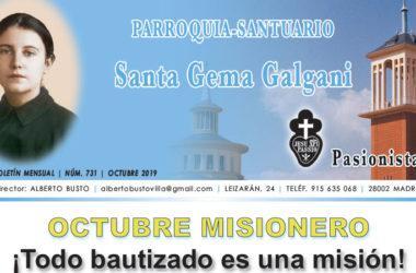"""Revista """"SANTA GEMA"""" – Octubre 2019"""
