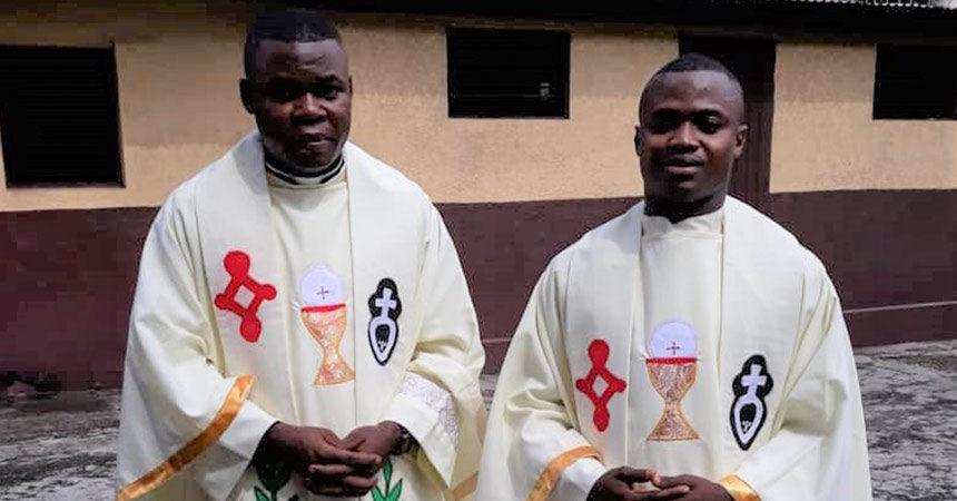 ORDINATION<br>Fr. Athanase Mungenga and Fr. Donatien Mbaku (SALV)