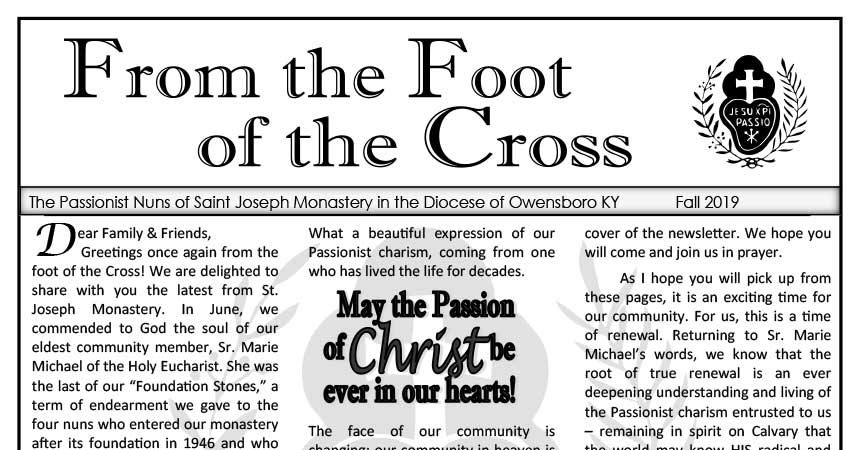 <em>From the Foot of the Cross</em><br>Fall 2019