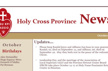 HOLY CROSS PROVINCE NEWS – October 2019