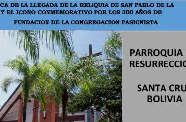 VISITA DEL ICONO Y LA RELIQUIA DE SAN PABLO DE LA CRUZ – BOLIVIA