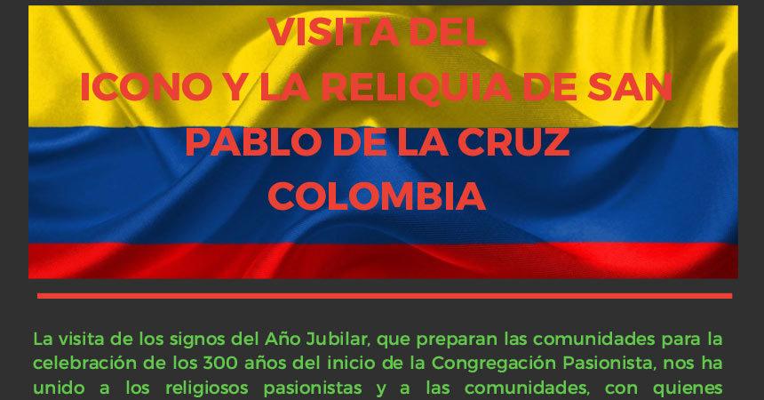 VISITA DEL ICONO Y LA RELIQUIA DE SAN PABLO DE LA CRUZ COLOMBIA