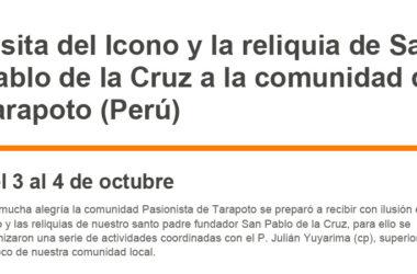Visita del Icono… a la comunidad de Tarapoto (Perú)