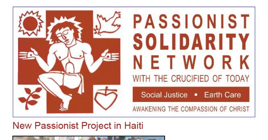 PASSIONIST SOLIDARITY NETWORK Newsletter<br>November 2019