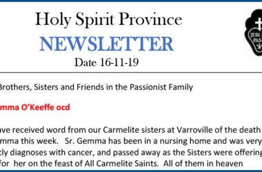 Holy Spirit Province NEWSLETTER – 16 November 2019