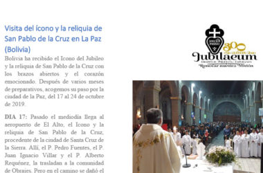 Visita del ícono y la reliquia de San Pablo de la Cruz en LA PAZ (Bolivia)