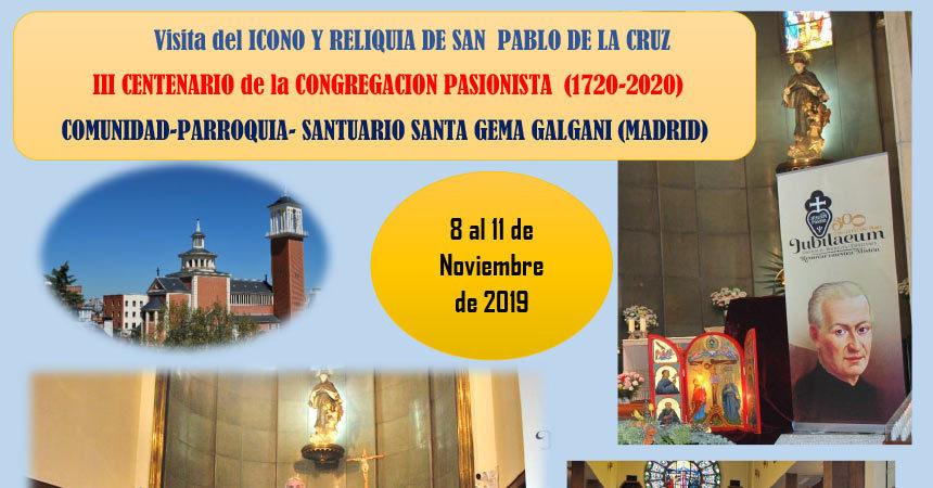 Visita del Icono y Reliquia de San Pablo…<br>Santuario Santa Gema (Madrid)