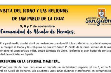 Visita del ícono y las reliquia de San Pablo… Colegio SAN GABRIEL, España